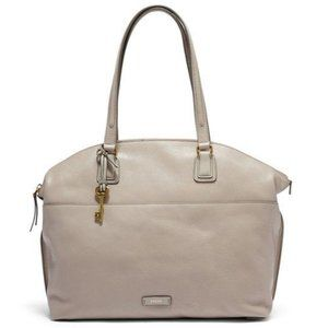 Fossil Julia Satchel Grey/Taupe Leather Tote Bag
